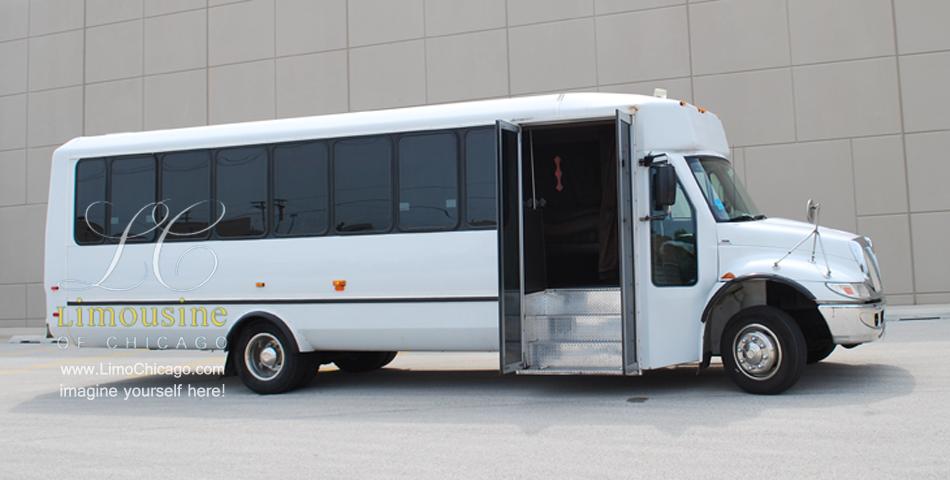 party bus with open doors